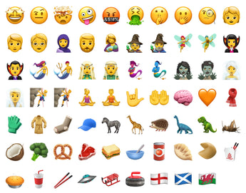 New emoji's for 2018!