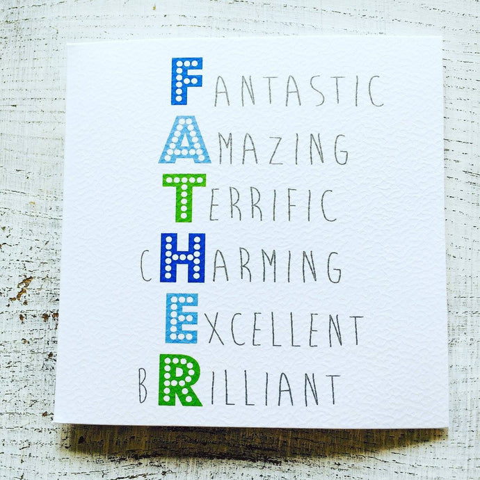 Father spelt out card