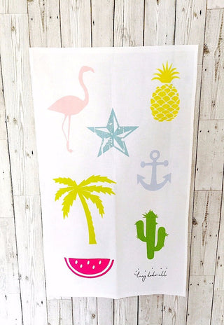 All the good things tea towel