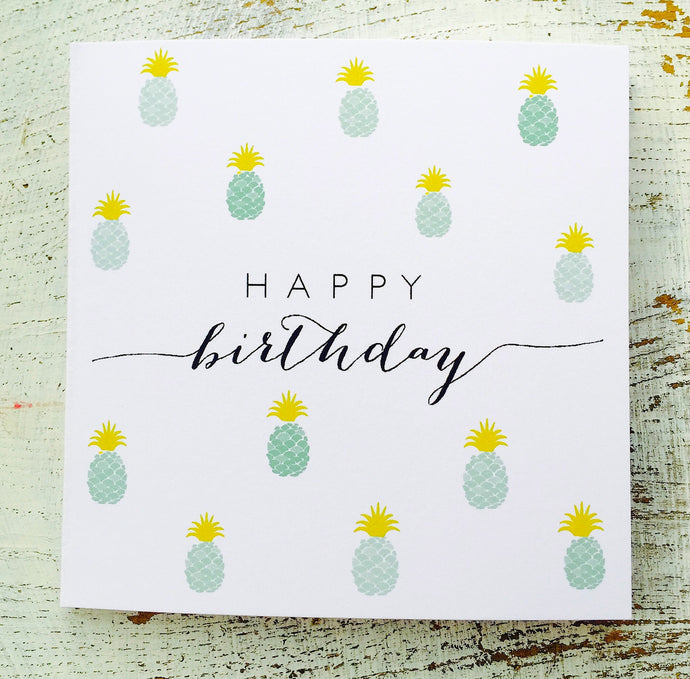 Happy Birthday little pineapples card
