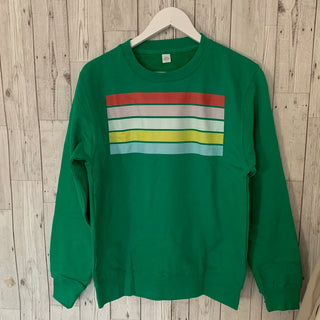 Green sweatshirt with stripes (small)