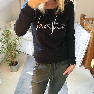 Breathe sweatshirt handwritten font (small UK 10)