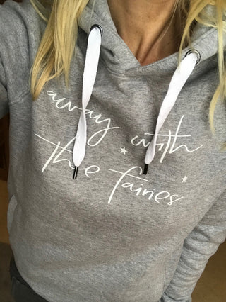 Away with the fairies hoody (small, UK 10-12)