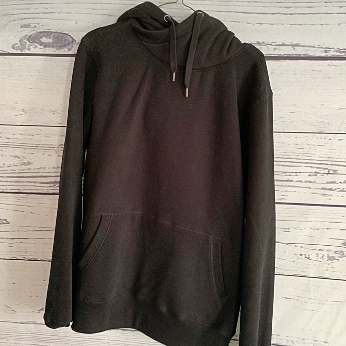 Black cross over hoody (plain size 12-14)