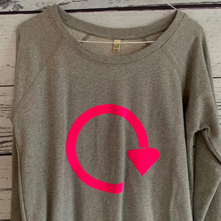 Neon pink recycle sweatshirt (medium size 12)