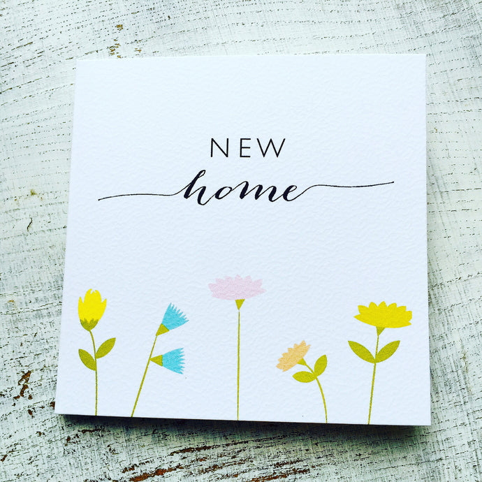 New home flowers card