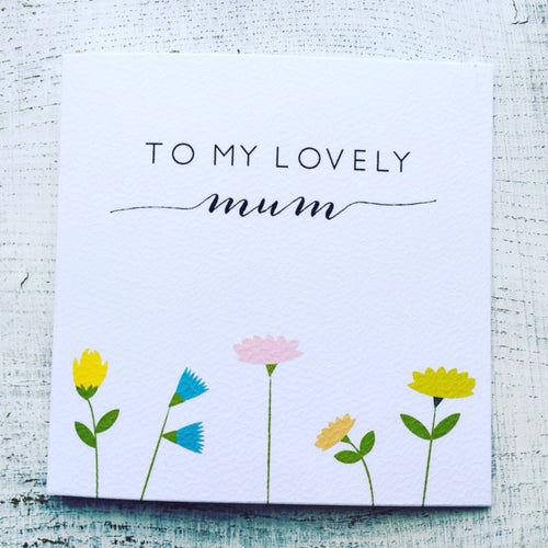 My lovely Mum card