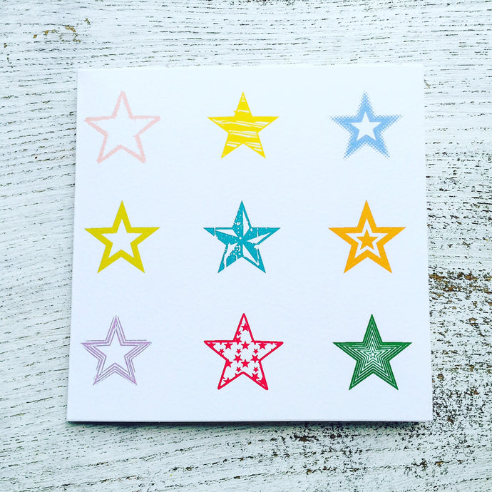Different types of different coloured stars