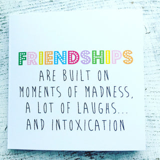 Colourful friendships card