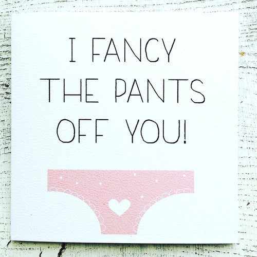Fancy the pants card