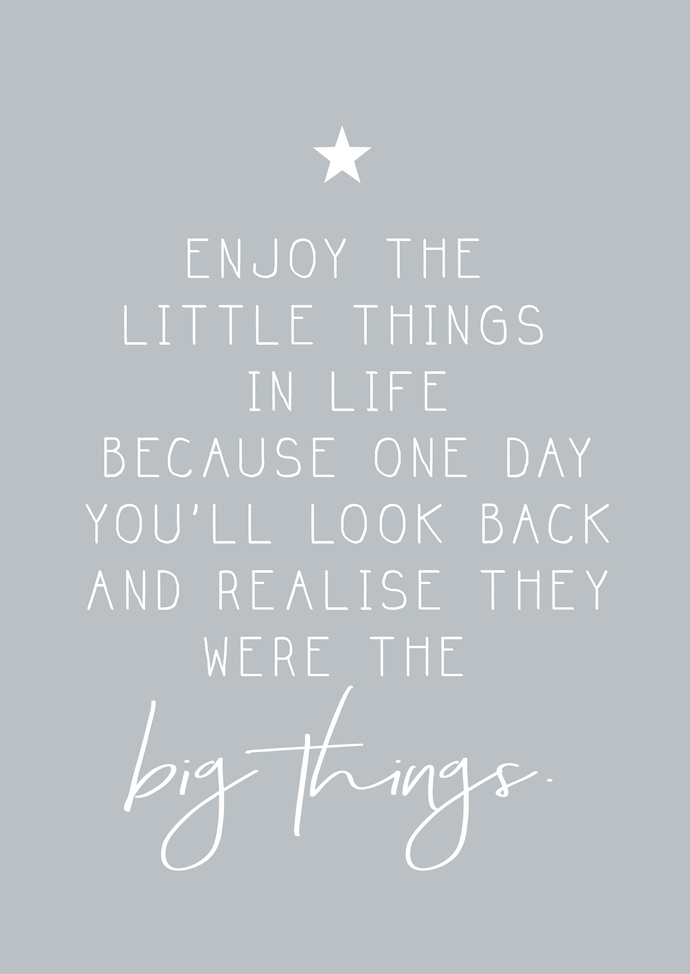 Enjoy little things A4 print