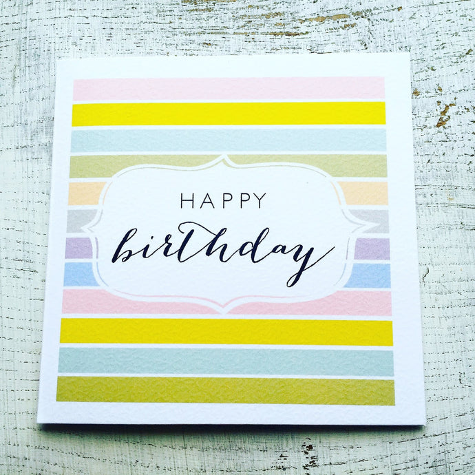 Stripy birthday card
