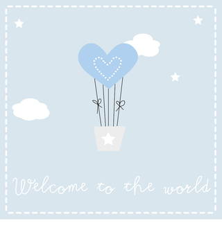 Welcome to the world balloon (girl or boy)