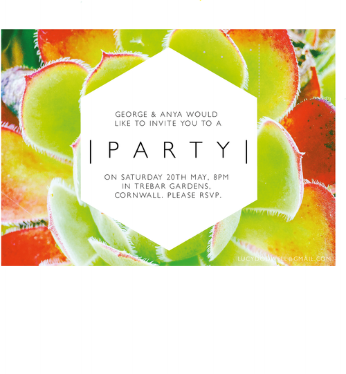 Cactus A6 invitation, pack of ten