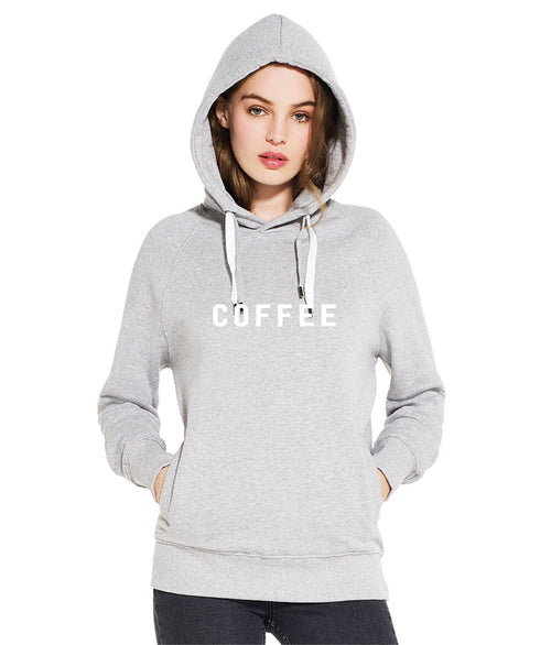 COFFEE on grey hoody