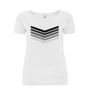 *NEW* Grey rainbow chevron tee