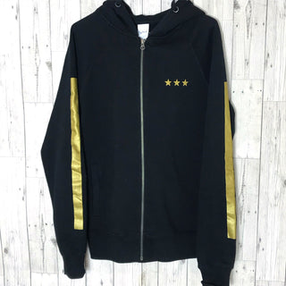 Black / gold stars & stripes zip hoody