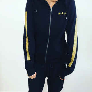 Black / gold stars & stripes zip hoody *SALE*