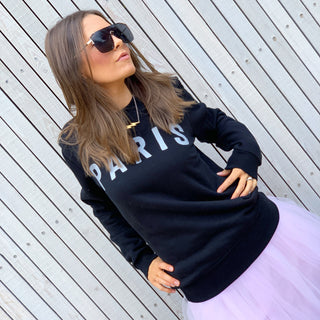 Black PARIS sweatshirt