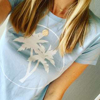 Pale blue summer tee *SALE*