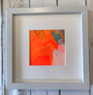 Neon splat frame orange