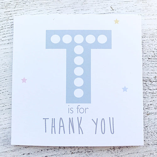 T is for thank you teacher card