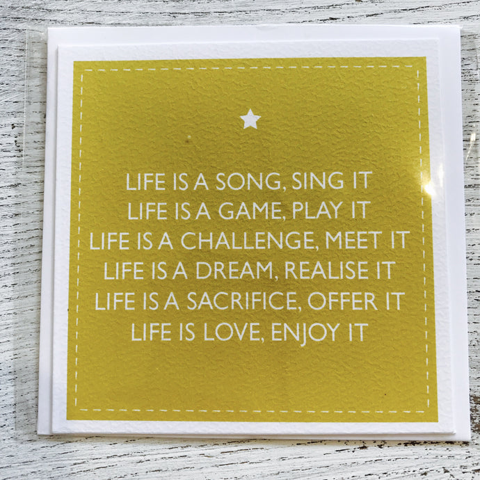 Life is a song card