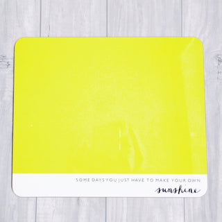 Colours & quotes tablemats - set of 6