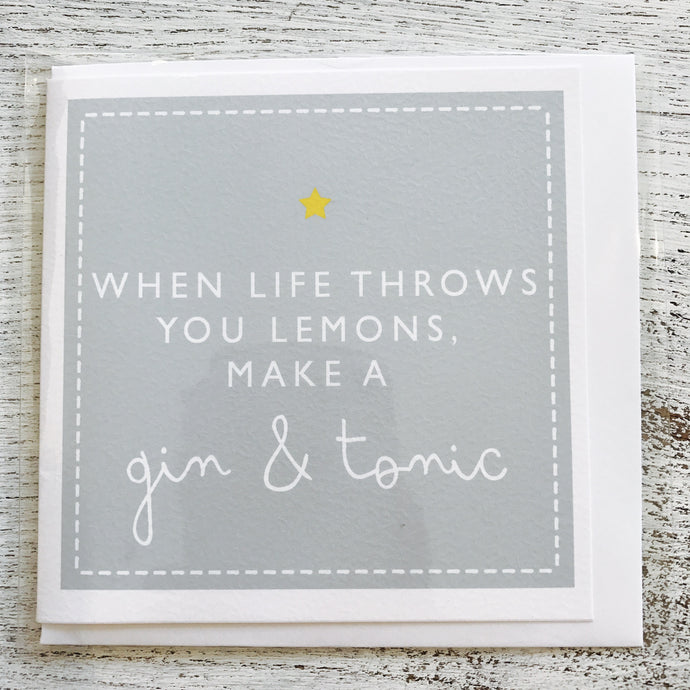 When life throws you lemons card