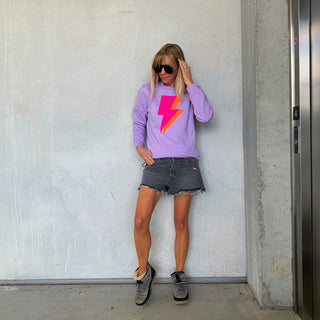 Lilac neon lightning sweatshirt *new*