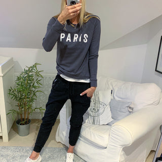 Charcoal PARIS sweatshirt