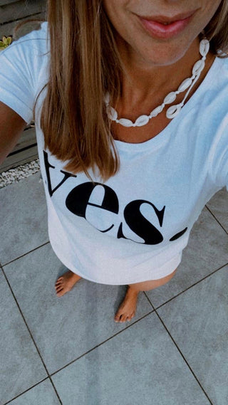 YES white tee *BEST SELLER*