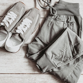 Light khaki joggers *new colour*
