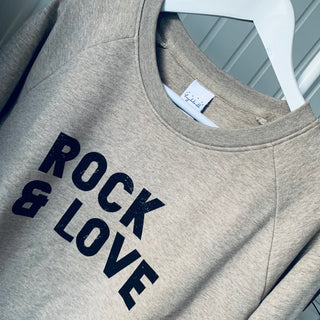 Oatmeal ROCK & LOVE sweatshirt *new*