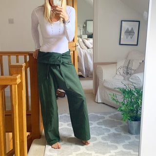Khaki Thai Fisherman pants