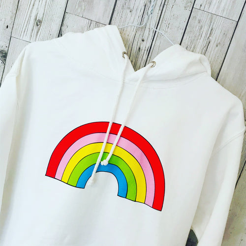 **NEW** White rainbow hoody 🌈