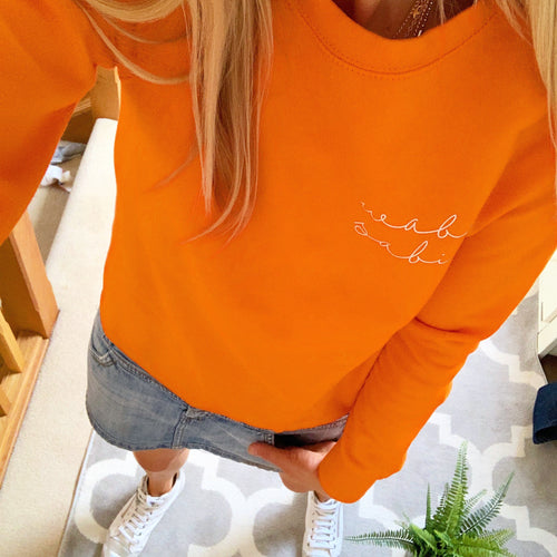 WABI SABI neon orange sweatshirt