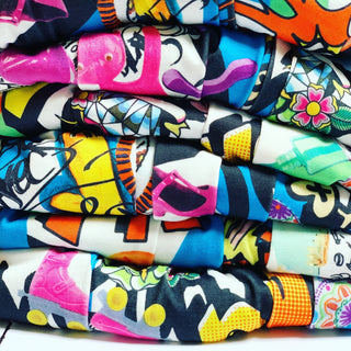 Crazy colourful harem pants 🌈
