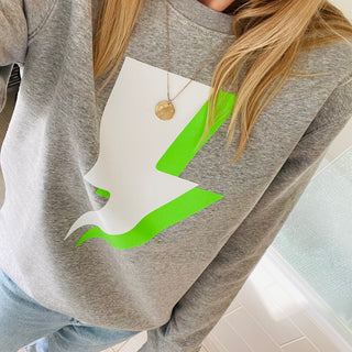 Grey neon lightning sweatshirt *new*