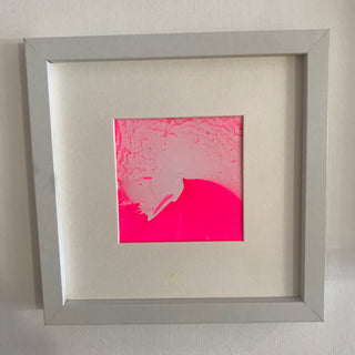 Double pink splatter