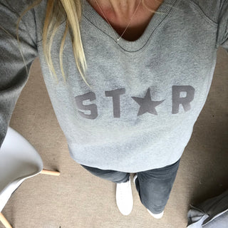 Grey STAR word sweat