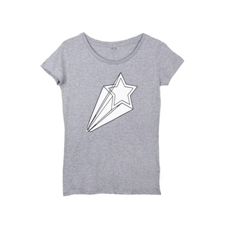 NEW!! White shooting star grey tee