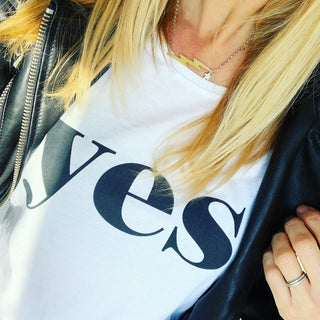 *NEW* YES white tee