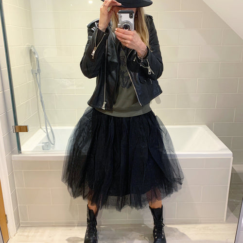 Black tulle tutu skirt
