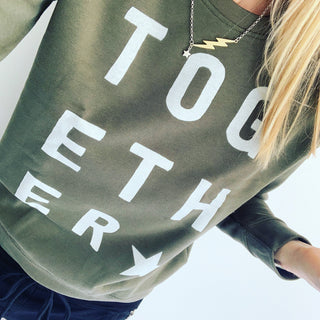 Khaki TOGETHER sweatshirt *raising money for NHS charities together*