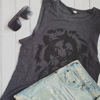 Vintage washed Lion tank top *NEW*