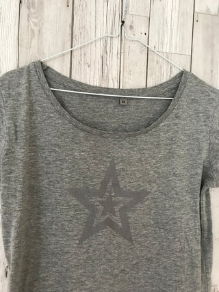 Double grey star grey tee (m)