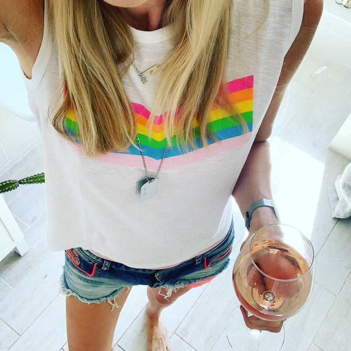 Neon rainbow tank top *NEW*