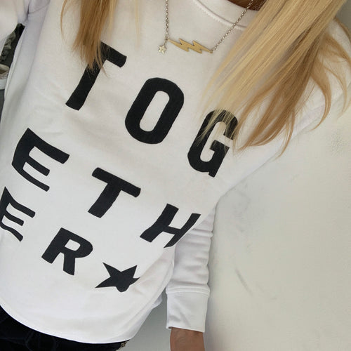White TOGETHER sweatshirt *raising money for NHS charities together*