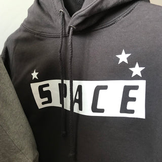 SPACE charcoal hoody